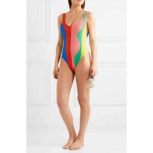 Mara Hoffman Beach Ball One Piece Swimsuit Small